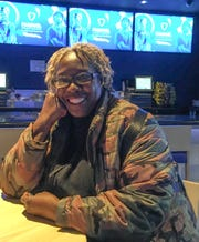 Retired nurse Audrey Hooke of Detroit had the FanDuel Sportsbook to herself Friday afternoon.