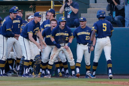 The Michigan baseball team advanced to the College World Series last year.
