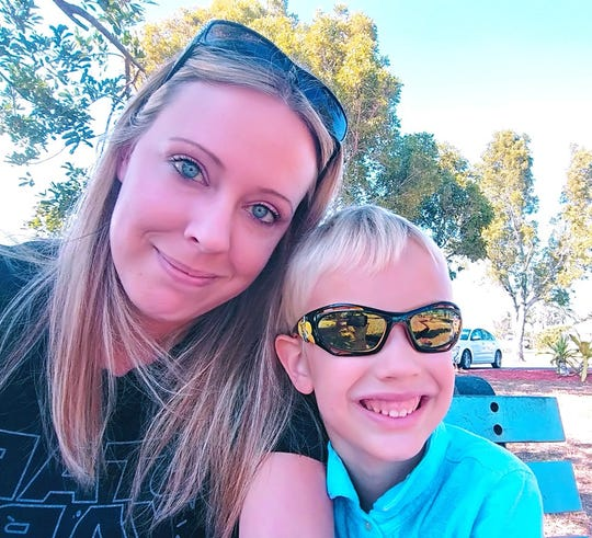 Janelle Schenderlein and her 7-year-old son Jaxon witnessed an act of kindness in line at a Cape Coral Publix in the middle of the coronavirus