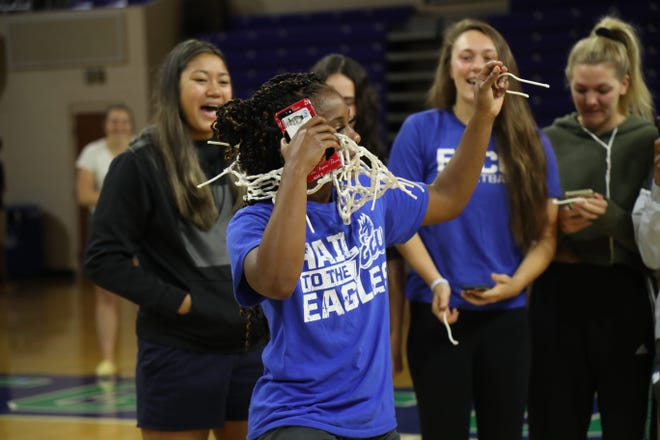 The FGCU women's basketball team had its season abruptly end in March following the announcement that the rest of post-season games were canceled because of COVID-19. The team still celebrated the season but cutting down the nets in Alico Arena.