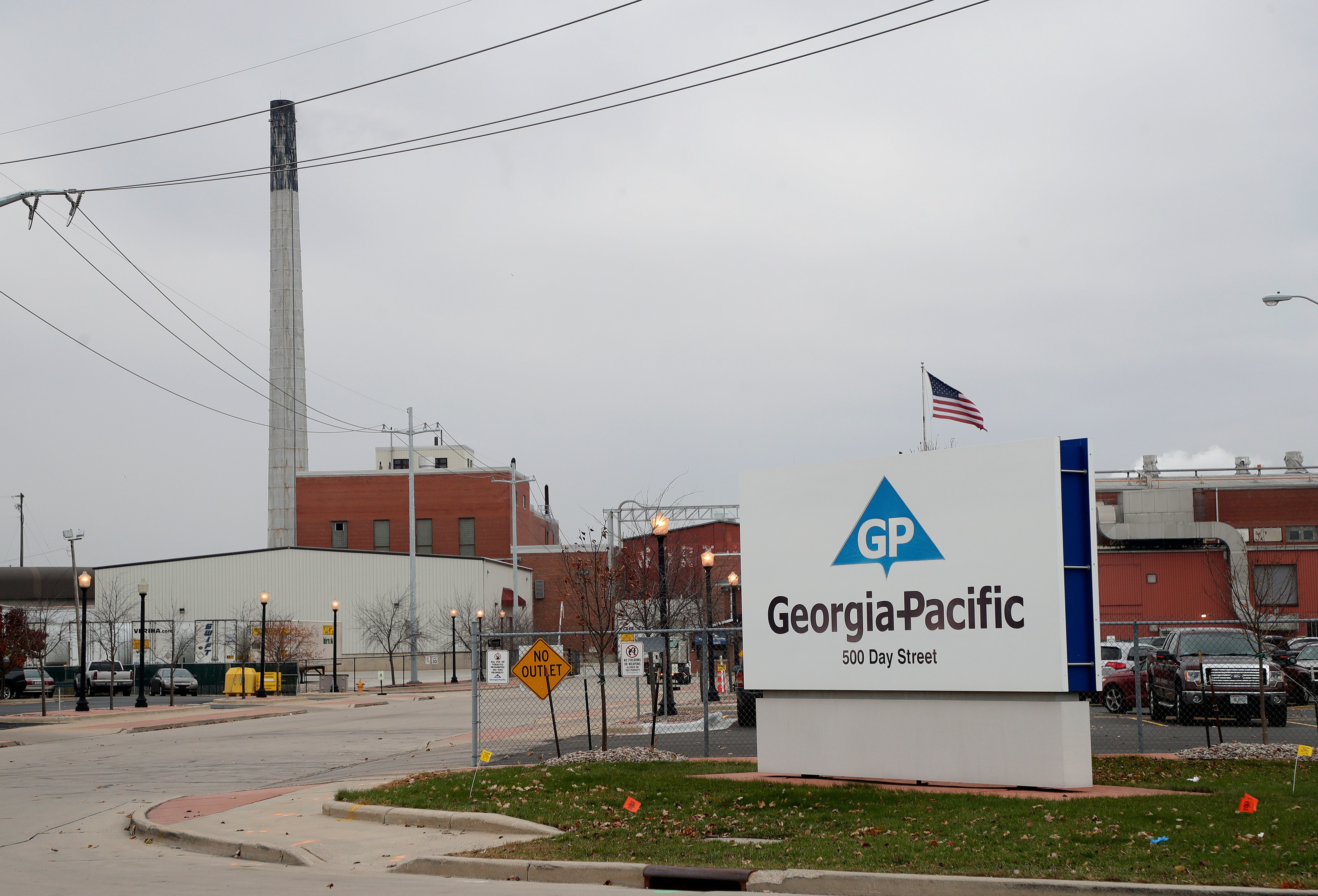 Georgia-Pacific's mill at 500 Day St. in Green Bay, Wis.