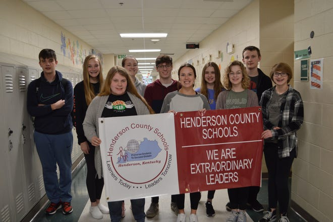 The HCHS Students of the Month for February 2020 are, first row from left, Hannah Herron, Emma Pendergraft, Scotlyn Vaughn, and Isabella Payne. Second row from left, Bryson Jackson, Kendal Hargrove, Graci Risley, Austin Knittel, Lauren Alexander, and Josh Freeman. Makayla Coomes and Shane O'Nan are not pictured.