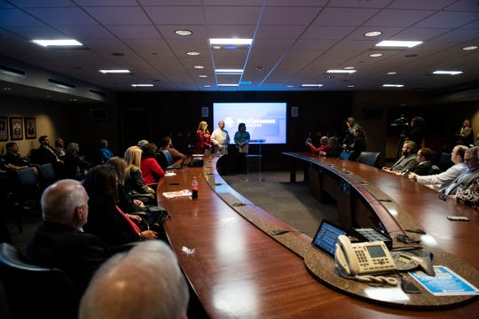 The Jackson Madison held a press conference at Jackson-Madison County General Hospital in Jackson, Tenn., Thursday, March 12, 2020 to answer questions about Coronavirus and discuss steps the health department are taking in light of the virus.