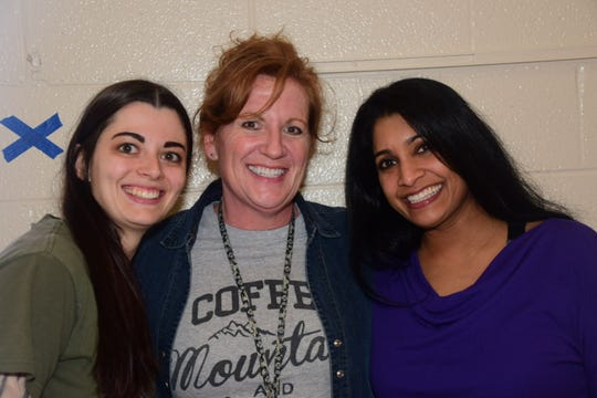 Teachers Holly Pearce, Jessica Jenkins with PTA vice-president Jyoti Brummerstedt at the third annual STEAM Night held at Ball Camp Elementary School Wednesday, March 11.