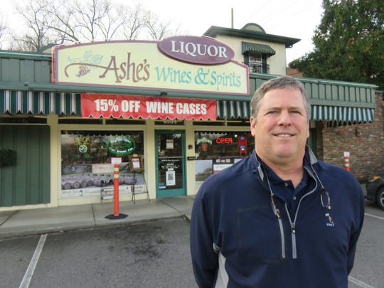 Thad Cox Jr. of Ashe's Wines and Spirits has cultivated a deep knowledge of wines and wine-making. The store has been at this location on Old Kingston Pike for 50 years and is celebrating its 30th anniversary of ownership by Cox and his family.