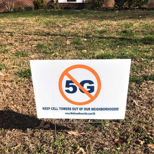 Signs like this one in the Sweet Briar subdivision have been sprouting up in neighborhoods around town. The grassroots movement is spearheaded by members of the community action group Farragut Citizens for Responsible Growth and Development.