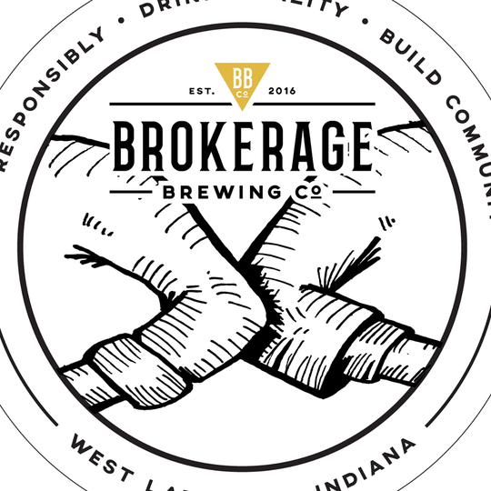 """The Brokerage Brewing Co. logo, which usually shows two hands shaking, has been changed to two elbows touching. """"Zero confirmed cases of corona virus at BBCo,"""" said the West Lafayette brewery in a tweet Thursday night. """"We are, of course, being cautious and more diligent about cleaning to do our part. Stay safe. Wash often. Withhold the handshakes for now."""""""