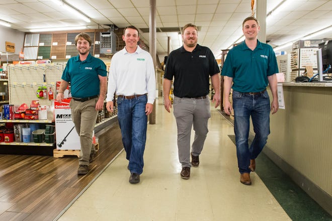 Doug Ashy Building Materials celebrating 60 years of business. DJ Ashy, Steven Ashy, Michael Ashy and Cullan Ashy are third generation of the business.  Friday, March 13, 2020.