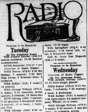 The April 7, 1925 Lancaster Daily Eagle's radio schedule
