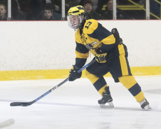 Dakota Kott of Hartland had 11 goals and 21 assists this season.