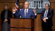 STILL FROM VIDEO: Louisville Mayor Greg Fischer updates the public on the latest on the COVID-19 situation in Louisville.
