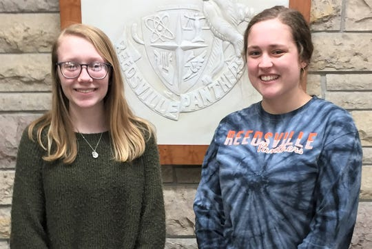 Reedsville High School's Students of the Month for February areMegan VanDyke and Amara Strenn.