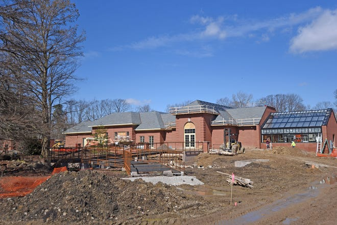 The Garden Gateway Visitors Center is on schedule and taking form.