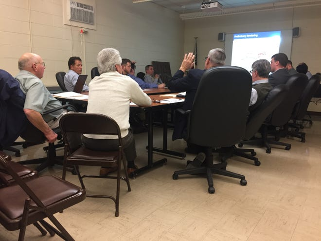 The Lexington school board met with architects and construction managers on Thursday during a work session to talk about the grade 7-12 building project.