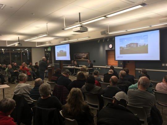 Alderman Steven Kurkowski addressed representatives of the U. S. Postal Service March 12 at the Oak Creek City Hall regarding the controversial postal facility at 2201 E. College Ave. in Oak Creek.