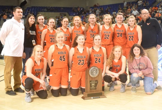 2020 Class 1A State runner-up Viola Lady Longhorns