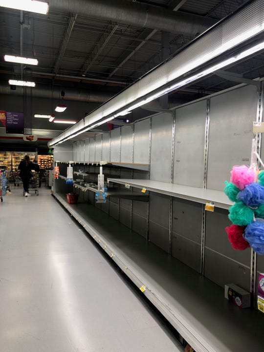 Empty shelves at ShopRite in Lincoln Park. We are all in this together says columnist Joe Phalon.
