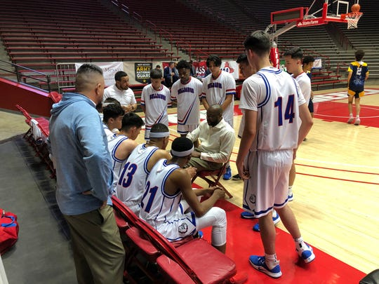 Las Cruces beat Volcano Vista in an empty arena on Thursday to advance to Saturday's Class 5A championship game.