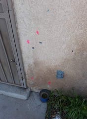 Las Cruces police say the two suspects fired 21 9mm rounds at an apartment building on the 2200 block of Stern Drive on Wednesday, March 4. No injuries were reported.