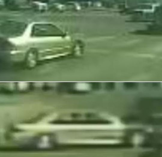 The car suspected in hitting a woman driving a scooter on Saturday, causing injury, then speeding off, leaving her without rendering aid. Crime Stoppers is offering an award of up to $1,000 for information that leads to the capture of the vehicle's driver.