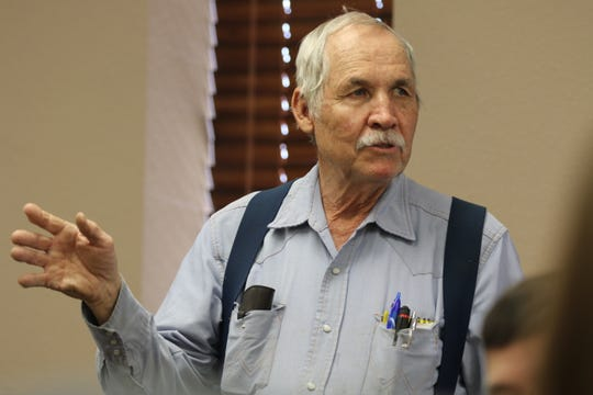 Former Eddy County Commissioner James Walterscheid speaks during a Carlsbad Irrigation District Board meeting, March 11, 2020 in Carlsbad.