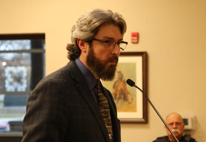 Jeff Patterson, City of Carlsbad planning director, explains plans for a proposed industrial park south of Carlsbad March 10, 2020 before the Carlsbad City Council.