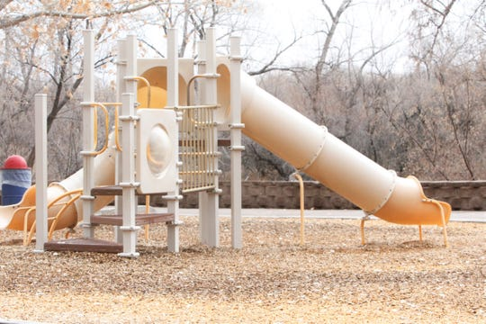 The playground at Berg Park is pictured, Friday, March 13, 2020, in Farmington.