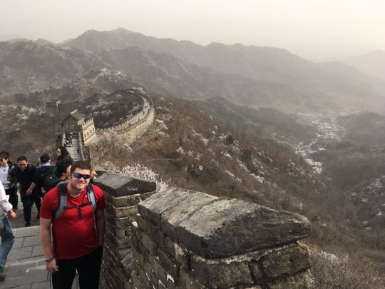 Stephen Johnson, a 2006 Birmingham Groves graduate, has been living in China for the past five years. Here, he visits the Great Wall of China.