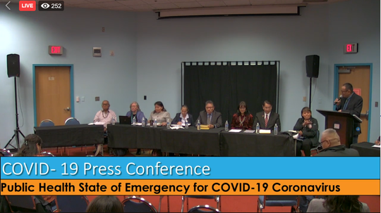 Panel for the Navajo Nation state of emergency press conference