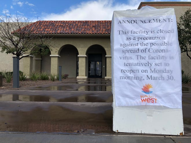 Sun City West closed its recreation centers and canceled public activities through the end of March due to the spread of coronavirus.
