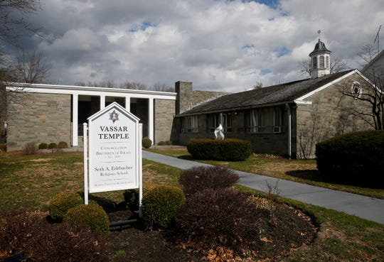 Vassar Temple in the City of Poughkeepsie on March 13, 2020.