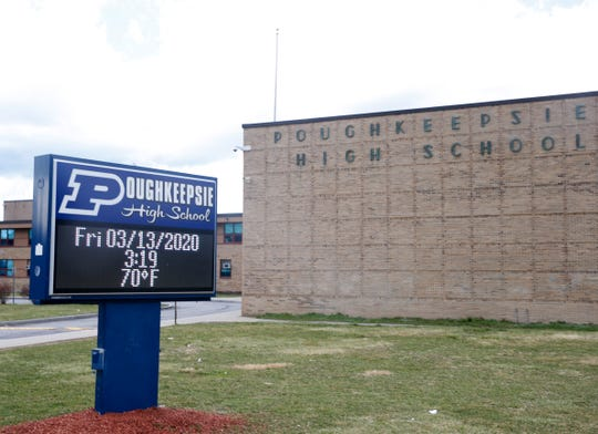 Poughkeepsie High School is pictured on Friday.