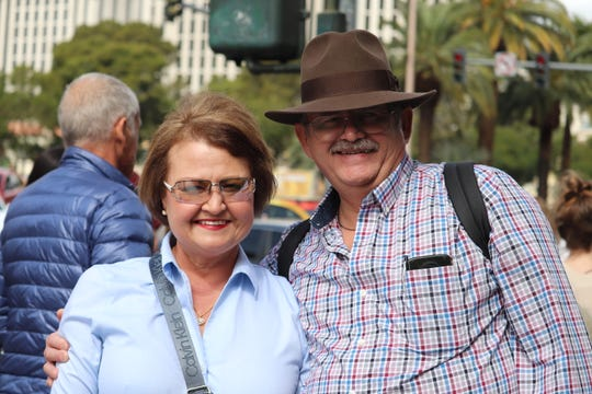 Tina Flores and Paul Trombley visited Las Vegas for the first time this week. COVID-19 did not deter them from traveling.