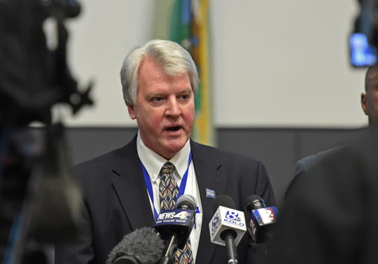 Washoe County Health Officer Kevin Dick answers questions during a press conference on the Coronavirus at the Washoe County Administration Complex on Friday March 13, 2020.