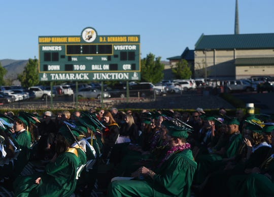 Bishop Manogue gathers for commencement ceremony on June 7, 2019.