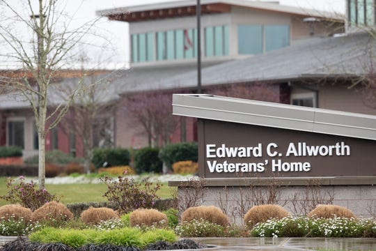 The Edward C. Allworth Veterans' Home in Lebanon, OR on March 13, 2020. Nine men at the home are being treated in isolation after being diagnosed with COVID-19.
