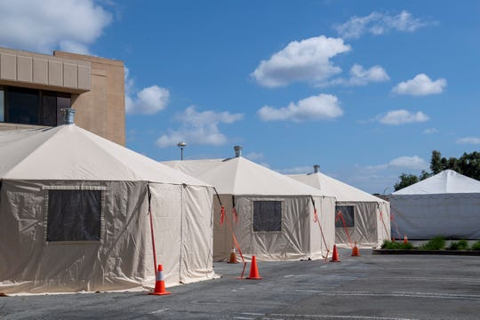 The Salinas Valley Memorial Hospital is setting up negative pressure tents for any patience experiencing symptoms tied with COVID-19. The emergency staff will be equipped with PAPR's gear and be given other resources to better help the patiences.