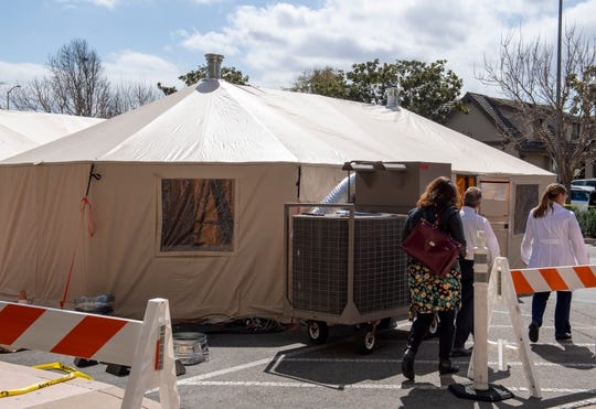 Salinas Valley Memorial Healthcare System is gearing up their emergency staff and setting up tents in order to take care of any patients that might be exhibiting symptoms of the COVID-19.
