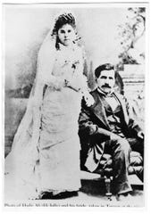 """Hadji Ali, known to the US Camel Corps soldiers as """"Hi Jolly"""" was the lead driver for the military unit and among the first Muslims in Texas. He became a US citizen in 1880 under his birth name of Philip Tedro, and married Gertrudis Serna in Tucson, Arizona, where he eventually retired. He died in 1902."""