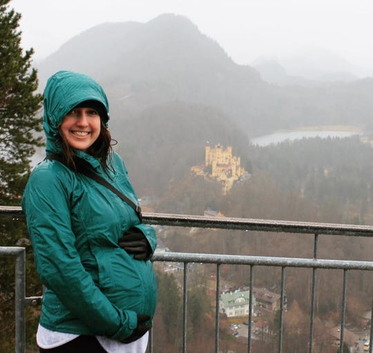 Argus Leader Content Coach Megan Raposa poses during a family vacation to Germany and Austria. The trip took place during the novel coronavirus pandemic in March 2020.