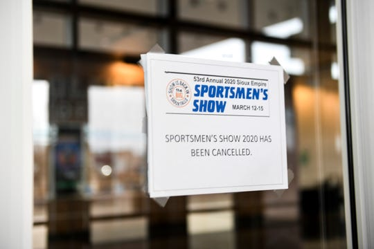 The Sportmen's Show is canceled due to covid-19 on Friday, March 13, 2020 at the Denny Sanford Premier Center in Sioux Falls.