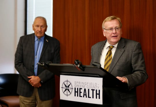 Springfield Mayor Ken McClure talks about the coronavirus situation in Greene County during a press conference on Friday, March 13, 2020.