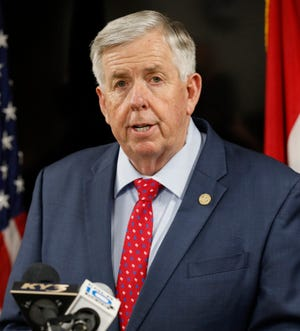 Missouri Gov. Mike Parson has been resistant to statewide restrictions to slow the spread of the coronavirus.