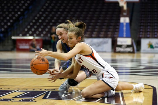 The Walnut Grove Lady Tigers beat the South Nodaway Longhorns to claim the Class 1 State Championship at JQH Arena on Friday, March 13, 2020.