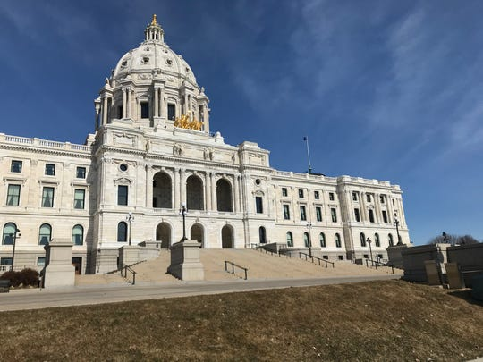 The Minnesota Capitol had minimal visitors on Friday, March 13, 2020, the day Gov. Tim Walz declared a peacetime emergency to help the state response to the COVID-19 pandemic.