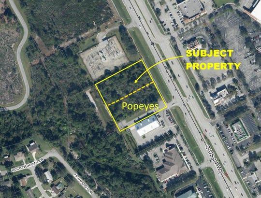 A Popeye's restaurant is proposed along U.S. 1 between Veterans Memorial Parkway and Crosstown Parkway in Port St. Lucie