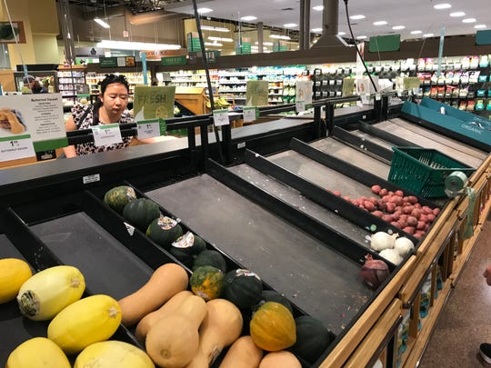 Coronavirus concerns: Even the produce aisle at Publix in Viera has been hit.