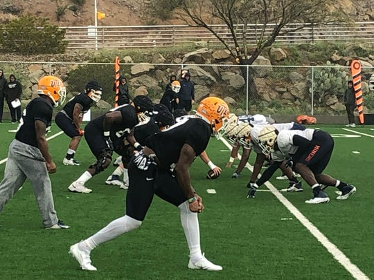 UTEP went through a normal spring practice Friday at Glory Field