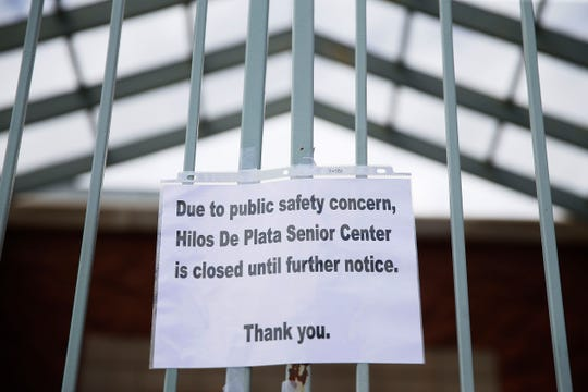 Hilos De Plata Senior Center is closed Friday, March 13, in El Paso as a precaution in response to Coronavirus COVID-19.