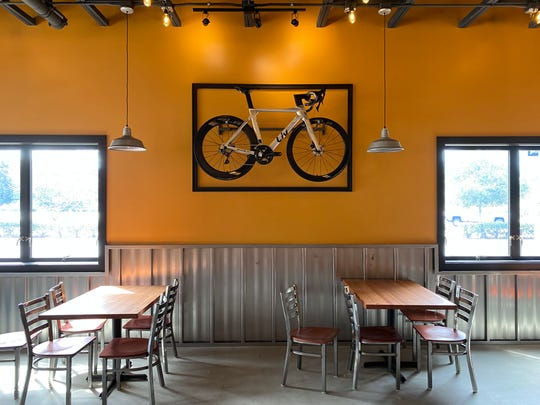 A mountain bike is part of the decor at Pedals & Pints Brewing Co. in Thousand Oaks. The city's second craft brewery is scheduled to celebrate its grand opening on March 17.